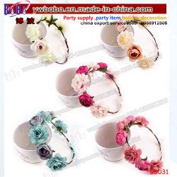 Fita para a coroa de flores Floral Boho Hair Garland casamento festa Peça Superior Hairband (B6031)