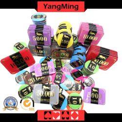 Nuevo diseño/ Conjunto de chips RFID Casino Poker Chips de Aluminio / con el caso de chips RFID Juegos