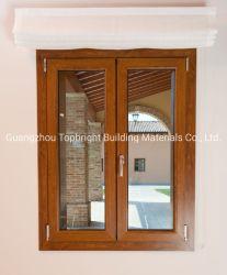 El vinilo de PVC/UPV Casement ventana con el ahorro de energía con doble vidrio templado