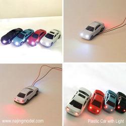 Ho Oo Tt N Z O Modelo de arquitetura de plástico Escala Carro com iluminação