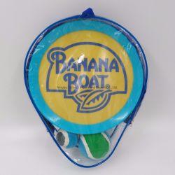 2つのディスクかい、2つの球およびPVCが付いているEmojiのトスそして捕獲物の球は子供およびグループと遊ぶことのために大きい袋を運ぶ