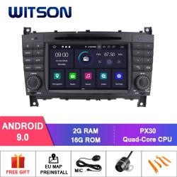 Auto Vdeo Spieler des Witson Android-9.0 für MERCEDES-BENZ Clk C-Kategorie Fahrzeug-Radio GPS-Multimedia