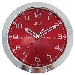12 orologio di parete silenzioso decorativo di plastica promozionale del quarzo di pollice 30 cm