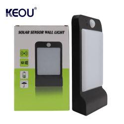مصباح LED خارجي للحديقة مصباح حائط شمسيًا من الألومنيوم مثبت على الحائط IP66 بقوة 2.5 وات