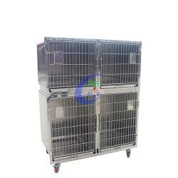 Clínica de EFP Hospital Animal em aço inoxidável animal de companhia Cage
