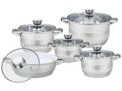 10pcs ustensiles de cuisine en acier inoxydable, casserole, cocotte et Frypan