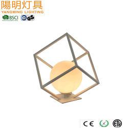 Квадратные настольный светильник из стекла земного шара постоянного освещения G9