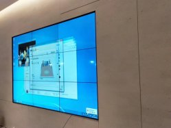 3X3 영상 벽 관제사, 벽 마운트 선반, HD 쪼개는 도구를 가진 한국 가져온 본래 LCD 영상 벽