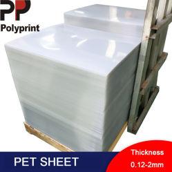 Folha de PET transparente para os produtos de plástico Theromforming