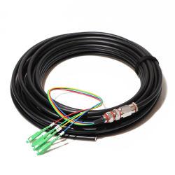 Fibra ótica Pre-Terminated Softel cabo tipo pigtail impermeável, LC, SC/APC 4 Core Pigtail Fibra impermeável