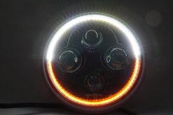 E-MARK утвердил 7 дюйма за круглым столом двухцветный 6500K/дальнего света системы освещения с углом глаза 7'' ИНДИКАТОР Car фары