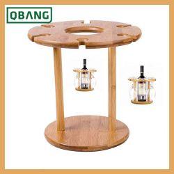 Visor de bambu Prateleiras Rack Vinho 1 Suporte para frascos de armazenamento empilháveis