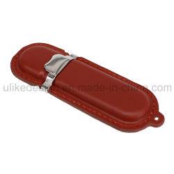 Lecteur Flash USB en cuir de gros (UL-L002)