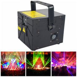 6000MW animação RGB parte de luz laser Máquina Laser