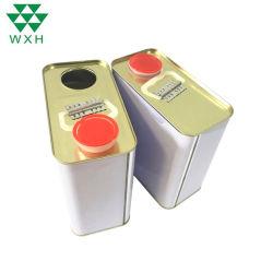 1 de Container van de Verf van het Metaal van het Blik van het Tin van Retancgular van de liter voor de Olie van de Motor