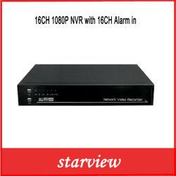 Наблюдения 16CH 1080P безопасности сетевой видеорегистратор с 16CH сигнал тревоги в системах видеонаблюдения