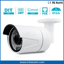 كاميرا IP مزودة بـ CCTV أمان مزودة بـ OEM/ODM بدقة 2 ميجابكسل/4 ميجابكسل مع ميزة PoE مع الصوت