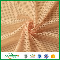 100 % polyester Tissu tricoté, poids léger (maille de 55~90GSM), doux et respirant Doublure pour vêtements de sport/