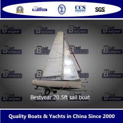 Bestyear 20,5 футов плавание на лодке с регулируемой или фиксированный парусами стрелы