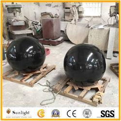 Le Granit Noir pierre ronde Fontaine Sphère flottante /Ball pour jardin