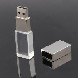 De nieuwe Aandrijving van de Flits van het Kristal USB 4GB 8GB 16GB 32GB voor de Aandrijving van de Pen van de Stok van de Aandrijving van het Geheugen van het Embleem USB van de Auto/de Gift van de Auto, LEIDEN Licht