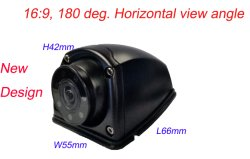 Вид сбоку автомобиля камера ночного видения водонепроницаемый резервного копирования