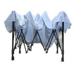 Revestimento de prata de tecido de cor branca tenda tenda Gazebo dobrável