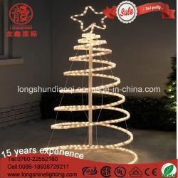 Indicatore luminoso a spirale decorativo infiammante dell'albero di Natale della corda 3D del LED per la decorazione esterna del giardino
