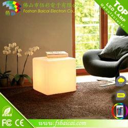 LED 조명 PE 소재 홈 가구 LED 의자 큐브 바 장식