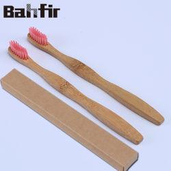Commerce de gros de carbone de bambou naturel brosse à dents avec du charbon de bois de soies échantillon gratuit