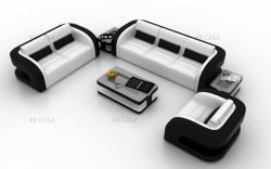 O novo modelo original em couro genuíno 1+2+3 sofá moderno mobiliário de estilo americano sofá de tecido