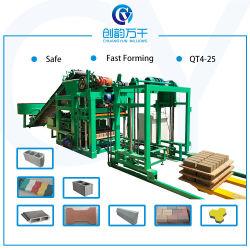 Qtj4-25 기업 구렁 구획 기계 콘크리트 블록/기계장치를 만드는 포장 구획