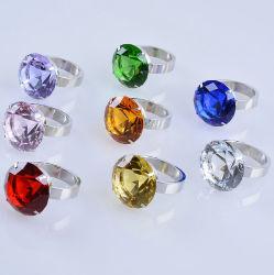 80mm guardanapo Diamante de cristal colorido grande anel para Loja