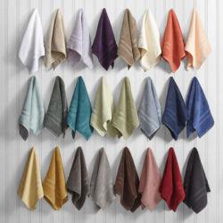Tovagliolo 100% di mano di lusso del tovagliolo di bagno della tela di bagno del cotone