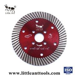 Turbo Wet & Dry Type de coupe Diamond 4.5'' pour toutes les pierres de lame de scie