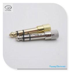 6.35mm/6.35 6.5mm/6.5 StereoJack/Stecker zu 3.5mm/3.5 Jack für RCA/AV/TV/Audio Kabel (Gold/Silber)
