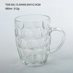 Mok van het Bier van het Glas 800ml van het Glaswerk van SG de Buitengewoon brede met Handvat