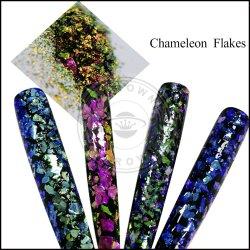 Camaleão irregulares flocos pigmento, efeito Camaleão pigmento em pó de esmalte de unha, pintura, impressão