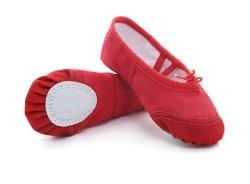발레화 걸스 캔버스 발레 슬리퍼/발레 신발/요가 댄스 토들러/리틀 걸즈/빅 걸즈/여성용 소프트 댄스를 위한 신발 신발 Esg13804