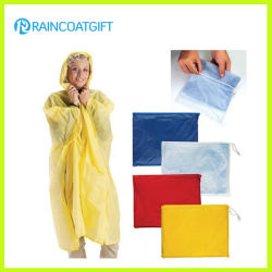Chuva de PVC Poncho unissexo promocionais (RVC-040) Fato de protecção