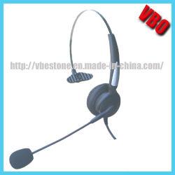 De monaurale Enige Hoofdtelefoon van de Telefoon van het Oor met de Stop van Rj Jack/2.5mm/3.5mm/USB