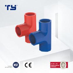 100% اختبار تأمين التجارة PVC DIN تركيبة أنابيب تيي أورتيال (مقبس) لعزل نظام التوصيل الكهربائي (JG - أحمر/أزرق)