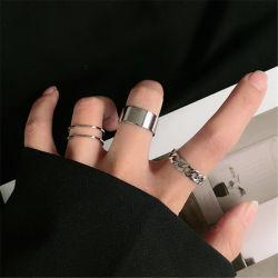 Геометрия Металла циркуляр панк кольца для женщин украшения