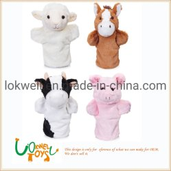 Différents animaux en peluche en peluche de marionnettes à main enfants Jouet de performances