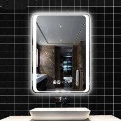 Venta caliente armazón de aluminio iluminado LED espejo del baño