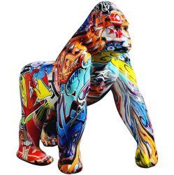 Arte Viva Home Resina decorativos enfeites chimpanzé estatuetas acabamento de impressão por transferência de água