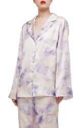 La prohibición de2009-0188 Ombre moda Primavera mujer manga larga caída abajo Pajmma Top