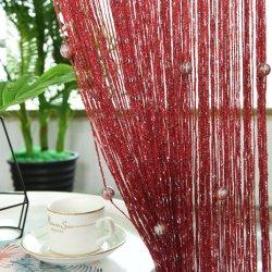 Großhandel Hot Sale Vorhänge Dekoration Silber String Vorhänge mit Kristall Perlen