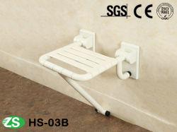 Equipamentos de segurança em aço inoxidável chuveiro de rebatimento do banco montada na parede