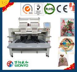 2 Bouchon informatisée de la tête T-Shirt Sequin Enregistrement Enregistrement Embroidery Machine